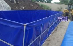 安徽一客户回传的软体组装水池照片