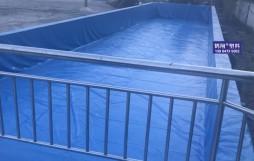 山东景芝客户的游泳池 防渗漏 安装中