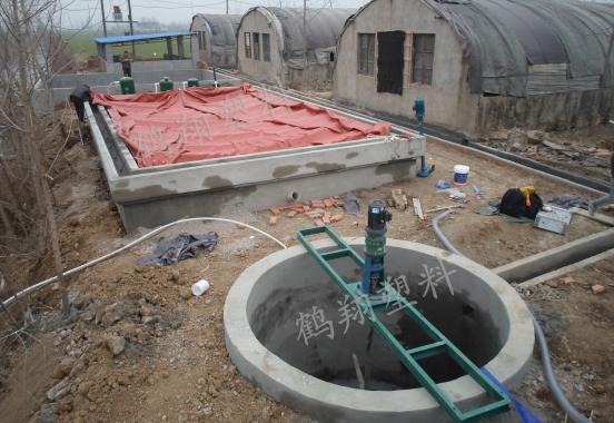 一个完整的养殖场沼气池应用案例